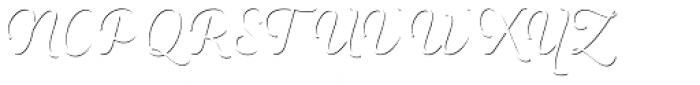 Heiders Script C Sh1 Ext Light Font UPPERCASE