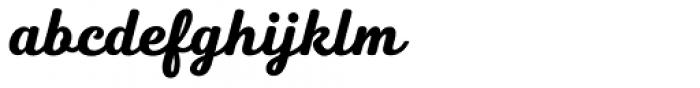 Heiders Script R Black Font LOWERCASE