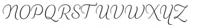 Heiders Script R Ext Light Font UPPERCASE
