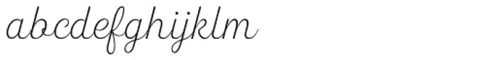 Heiders Script R Ext Light Font LOWERCASE
