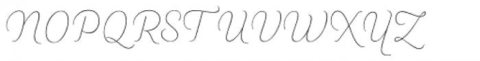 Heiders Script R Line Font UPPERCASE