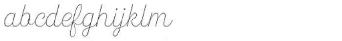 Heiders Script R Line Font LOWERCASE