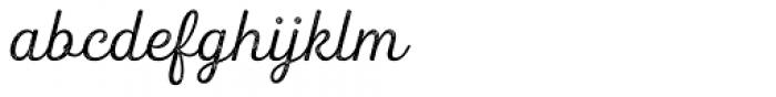 Heiders Script R2 Light Font LOWERCASE