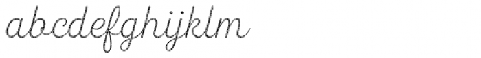 Heiders Script R4 Ext Light Font LOWERCASE