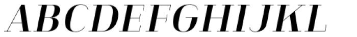 Heimat Didone 10 Bold Italic Font UPPERCASE