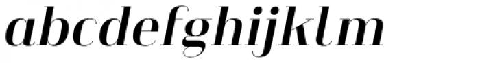 Heimat Didone 10 Bold Italic Font LOWERCASE