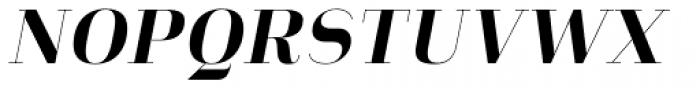 Heimat Didone 10 Extra Bold Italic Font UPPERCASE
