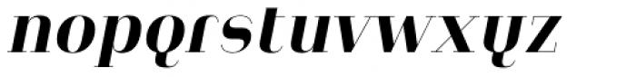 Heimat Didone 10 Extra Bold Italic Font LOWERCASE