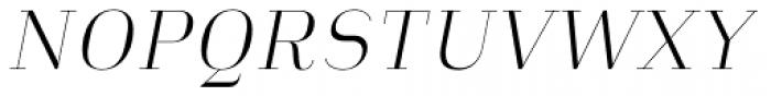 Heimat Didone 10 Extra Light Italic Font UPPERCASE