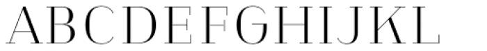 Heimat Didone 10 Extra Light Font UPPERCASE