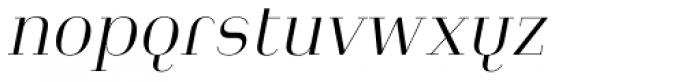 Heimat Didone 10 Light Italic Font LOWERCASE