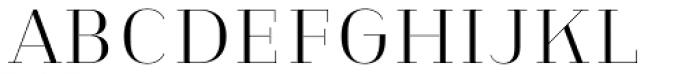 Heimat Didone 10 Light Font UPPERCASE