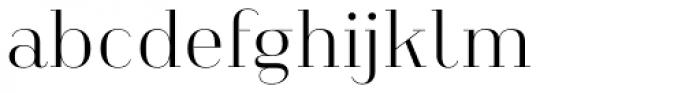 Heimat Didone 10 Light Font LOWERCASE