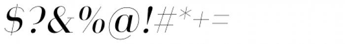 Heimat Didone 10 Regular Italic Font OTHER CHARS