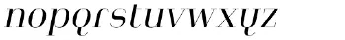 Heimat Didone 10 Regular Italic Font LOWERCASE