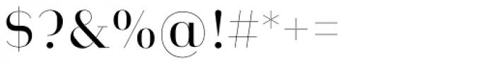 Heimat Didone 10 Regular Font OTHER CHARS