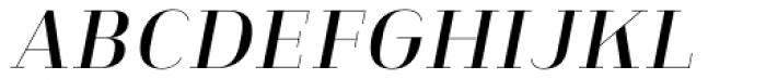 Heimat Didone 10 Semi Bold Italic Font UPPERCASE