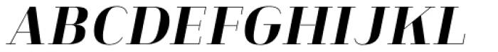 Heimat Didone 12 Extra Bold Italic Font UPPERCASE