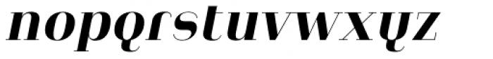 Heimat Didone 12 Extra Bold Italic Font LOWERCASE