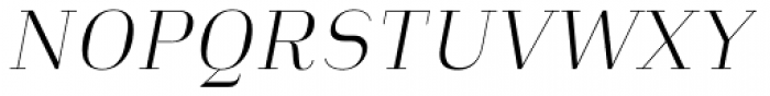 Heimat Didone 12 Extra Light Italic Font UPPERCASE