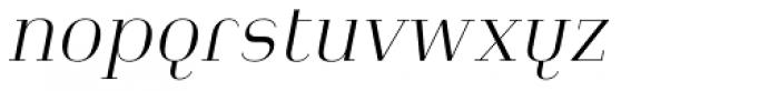 Heimat Didone 12 Extra Light Italic Font LOWERCASE
