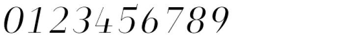 Heimat Didone 12 Light Italic Font OTHER CHARS