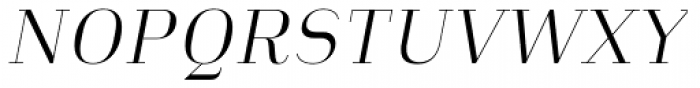 Heimat Didone 12 Light Italic Font UPPERCASE