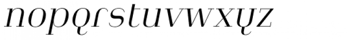 Heimat Didone 12 Light Italic Font LOWERCASE