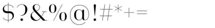 Heimat Didone 12 Light Font OTHER CHARS
