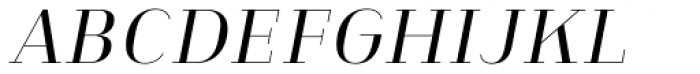 Heimat Didone 12 Regular Italic Font UPPERCASE