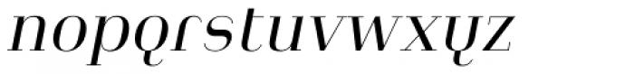 Heimat Didone 12 Regular Italic Font LOWERCASE