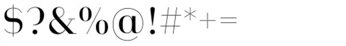 Heimat Didone 12 Regular Font OTHER CHARS