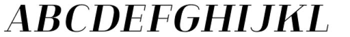 Heimat Didone 20 Bold Italic Font UPPERCASE