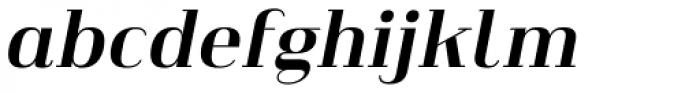 Heimat Didone 20 Bold Italic Font LOWERCASE