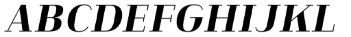 Heimat Didone 20 Extra Bold Italic Font UPPERCASE