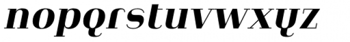 Heimat Didone 20 Extra Bold Italic Font LOWERCASE