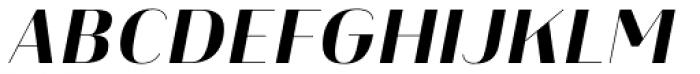 Heimat Display 12 Extra Bold Italic Font UPPERCASE