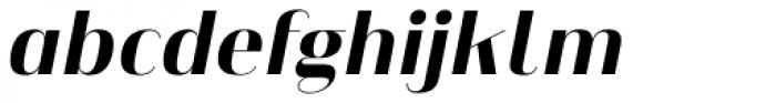 Heimat Display 12 Extra Bold Italic Font LOWERCASE