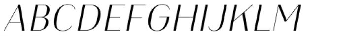 Heimat Display 12 Extra Light Italic Font UPPERCASE