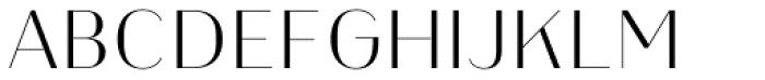 Heimat Display 12 Extra Light Font UPPERCASE