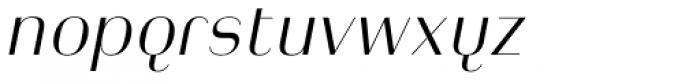Heimat Display 12 Light Italic Font LOWERCASE