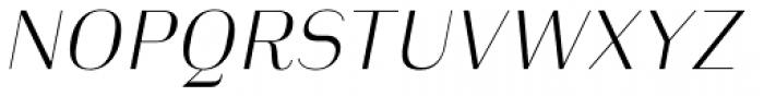 Heimat Display 14 Extra Light Italic Font UPPERCASE