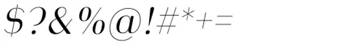 Heimat Display 14 Light Italic Font OTHER CHARS