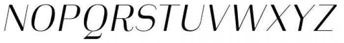 Heimat Display 14 Light Italic Font UPPERCASE