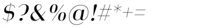 Heimat Display 14 Regular Italic Font OTHER CHARS