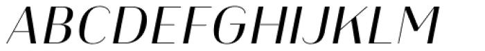 Heimat Display 14 Regular Italic Font UPPERCASE