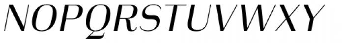 Heimat Display 20 Regular Italic Font UPPERCASE