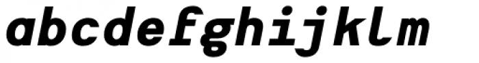 Heimat Mono ExtraBold Italic Font LOWERCASE