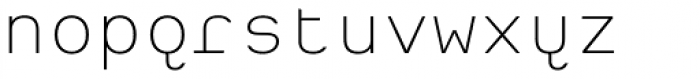 Heimat Mono ExtraLight Font LOWERCASE