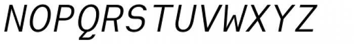 Heimat Mono Italic Font UPPERCASE